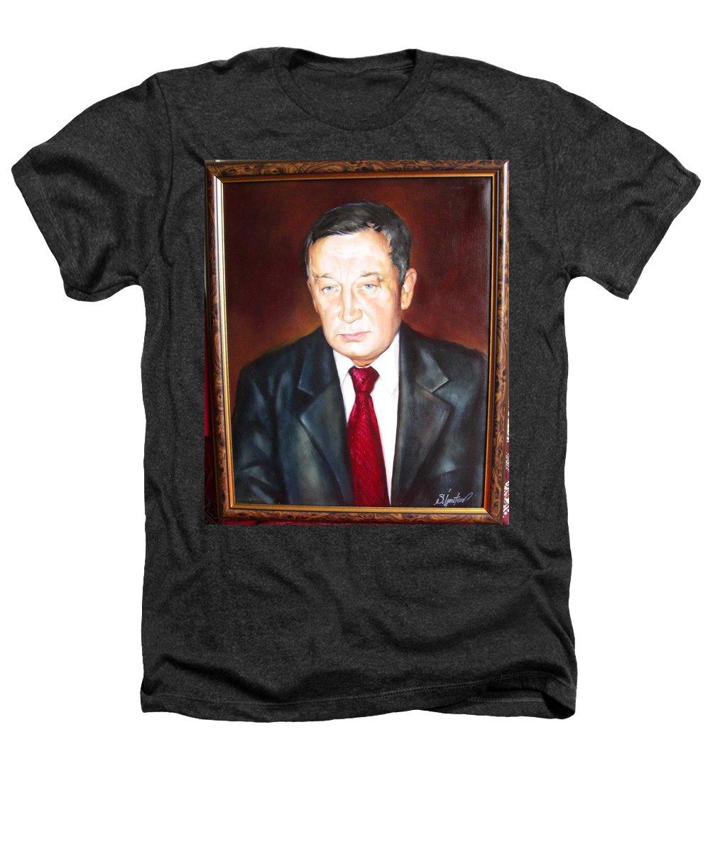 Art Heathers T-Shirt featuring the painting Man 1 by Sergey Ignatenko