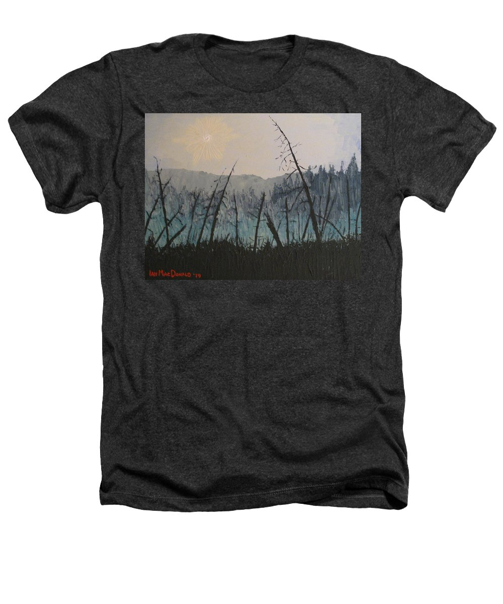 Northern Ontario Heathers T-Shirt featuring the painting Manitoulin Beaver Meadow by Ian MacDonald