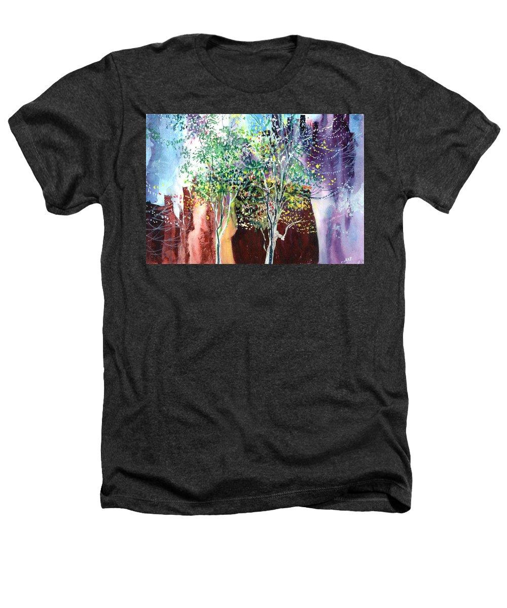 Nature Heathers T-Shirt featuring the painting Maya by Anil Nene
