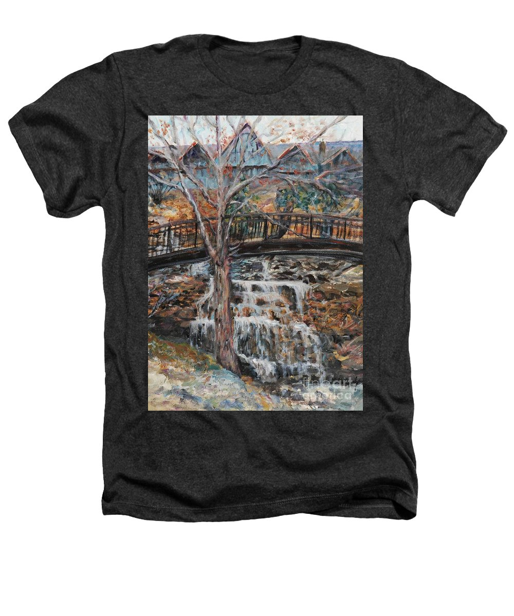 Waterfalls Heathers T-Shirt featuring the painting Memories by Nadine Rippelmeyer