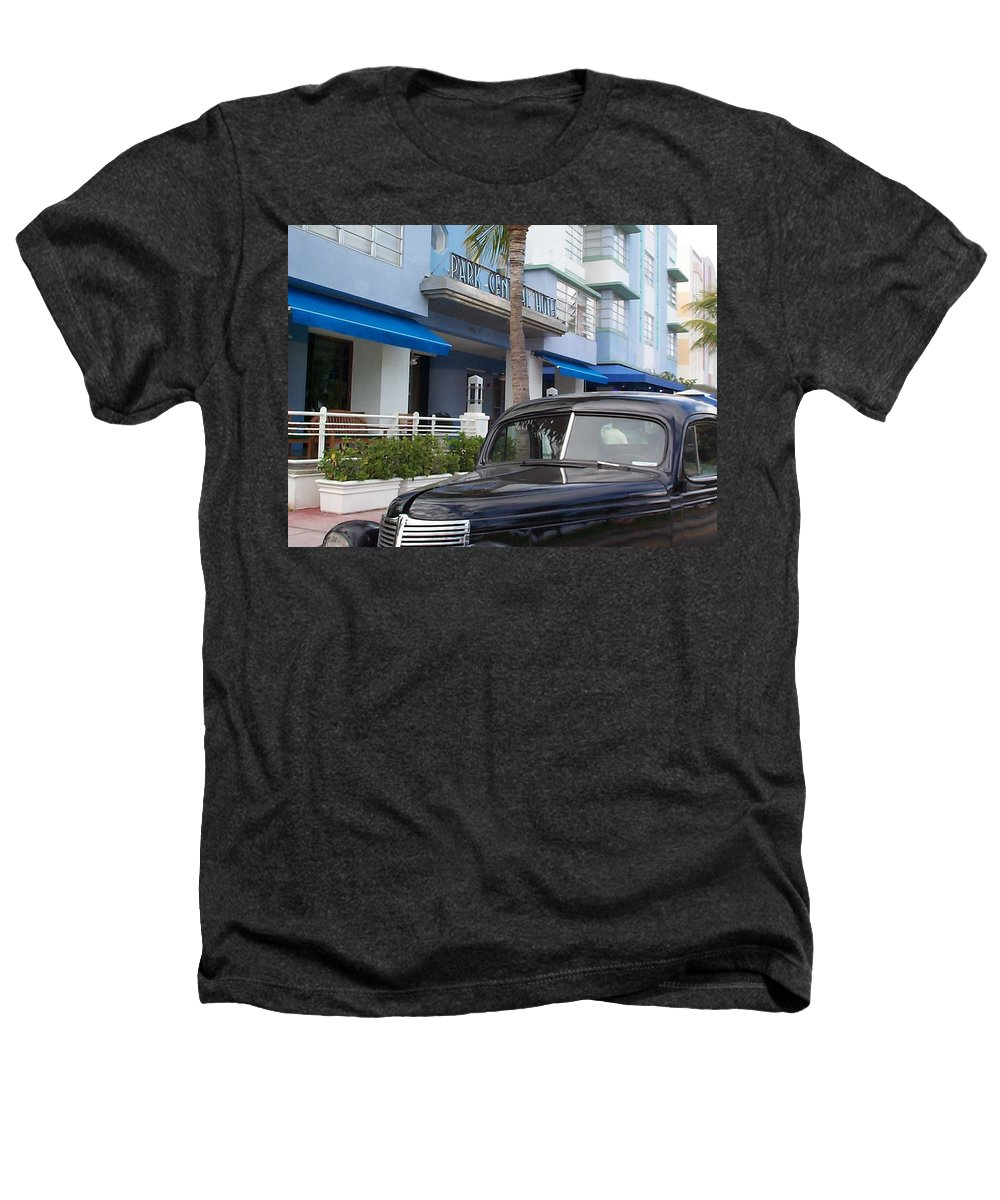 Charity Heathers T-Shirt featuring the photograph Miami Beach by Mary-Lee Sanders