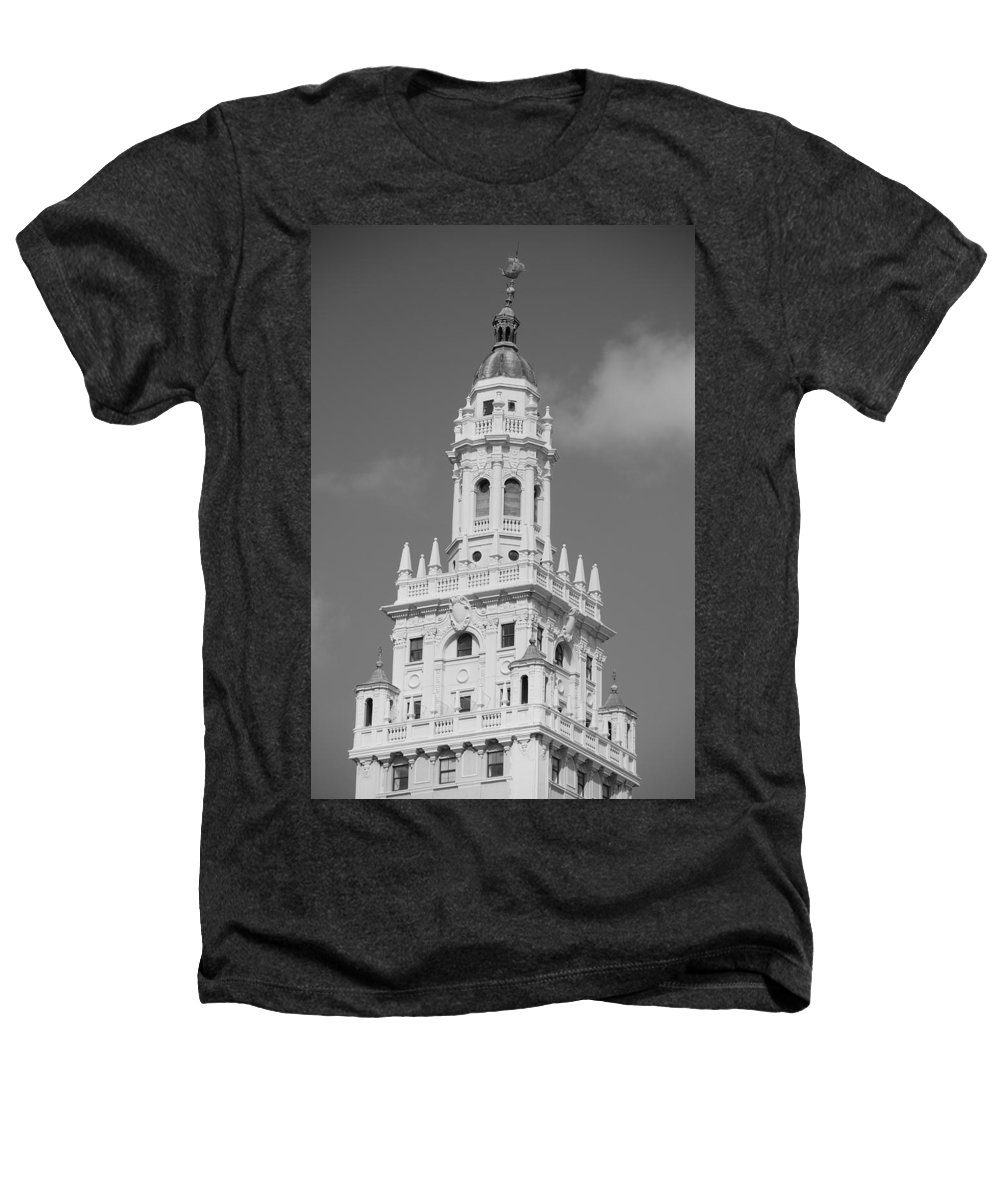 Architecture Heathers T-Shirt featuring the photograph Miami Tower by Rob Hans