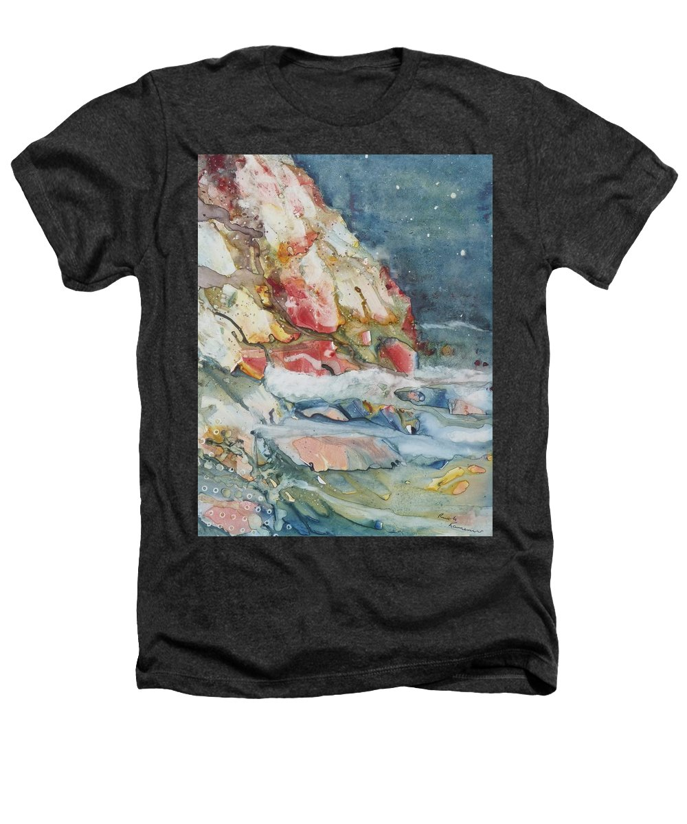 Abstract Heathers T-Shirt featuring the painting Midnight Surf by Ruth Kamenev
