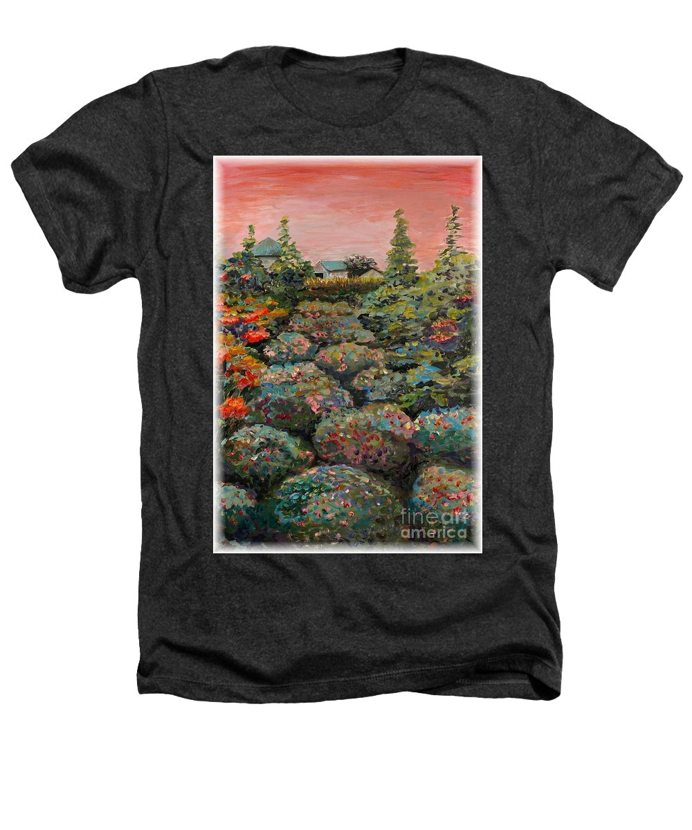 Minnesota Heathers T-Shirt featuring the painting Minnesota Memories by Nadine Rippelmeyer