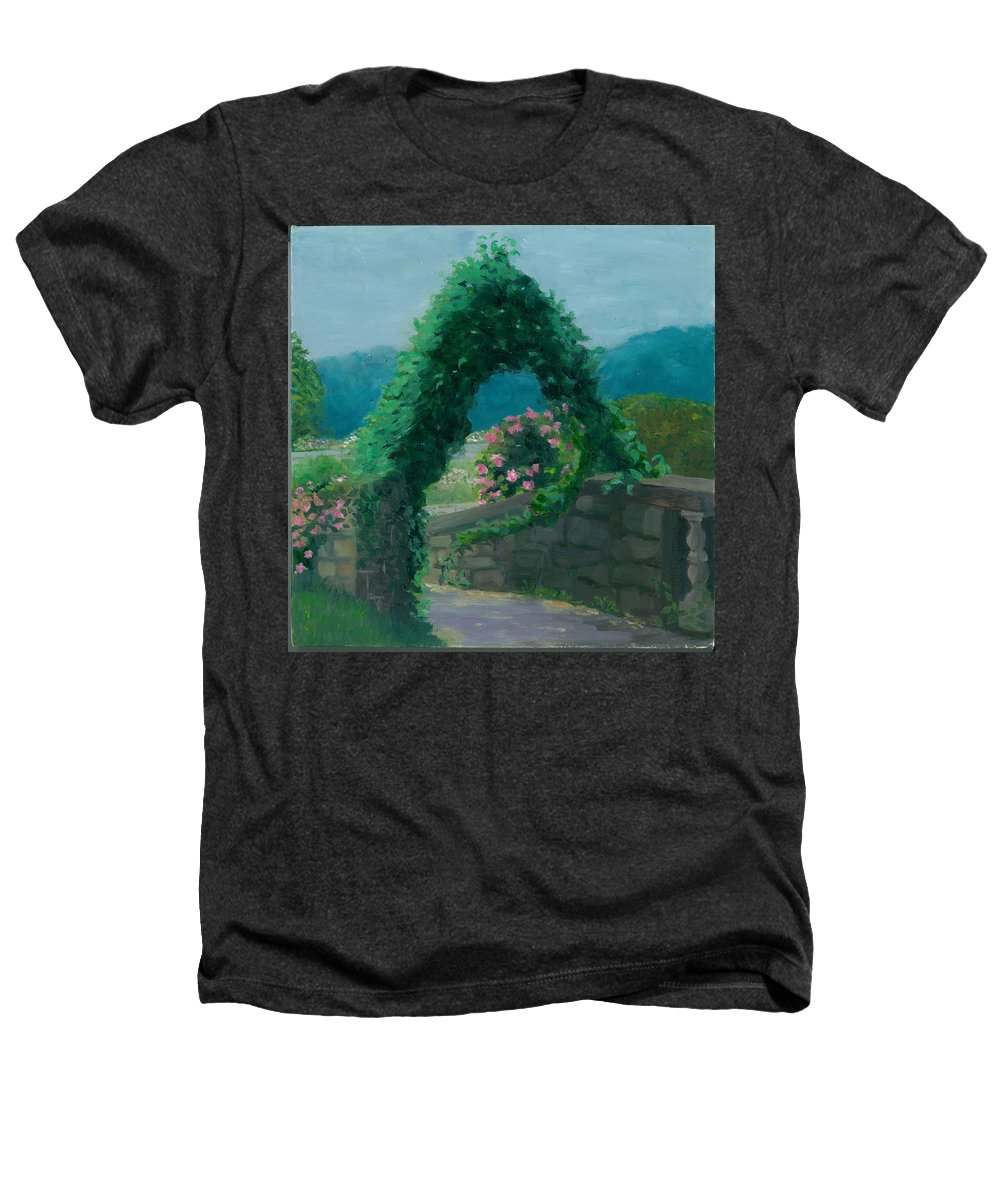 Landscape Heathers T-Shirt featuring the painting Morning At Harkness Park by Paula Emery