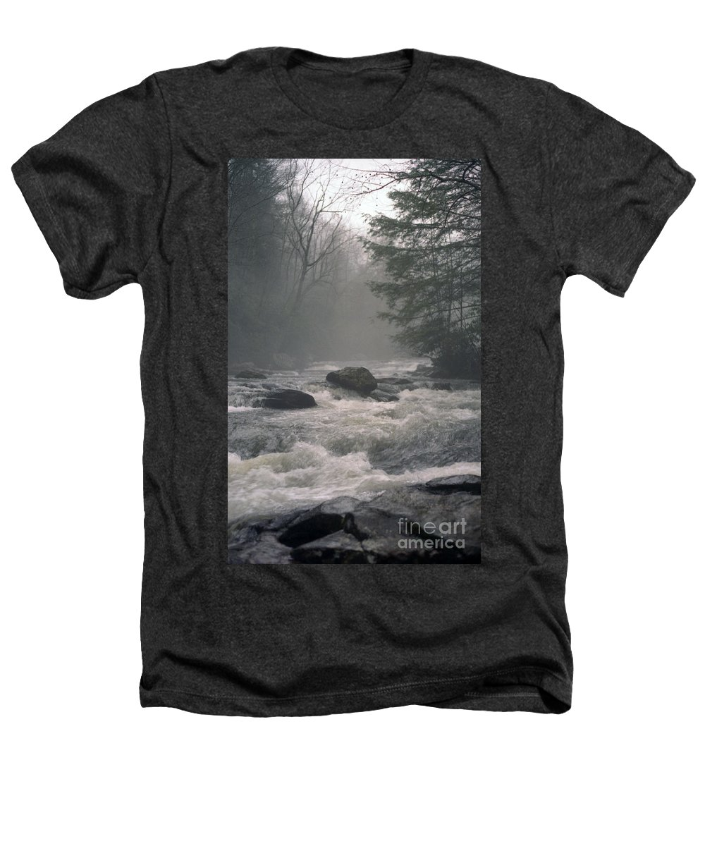 Rivers Heathers T-Shirt featuring the photograph Morning At The River by Richard Rizzo