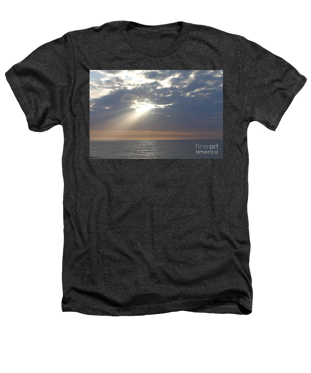 Sky Heathers T-Shirt featuring the photograph Morning Sunburst by Nadine Rippelmeyer