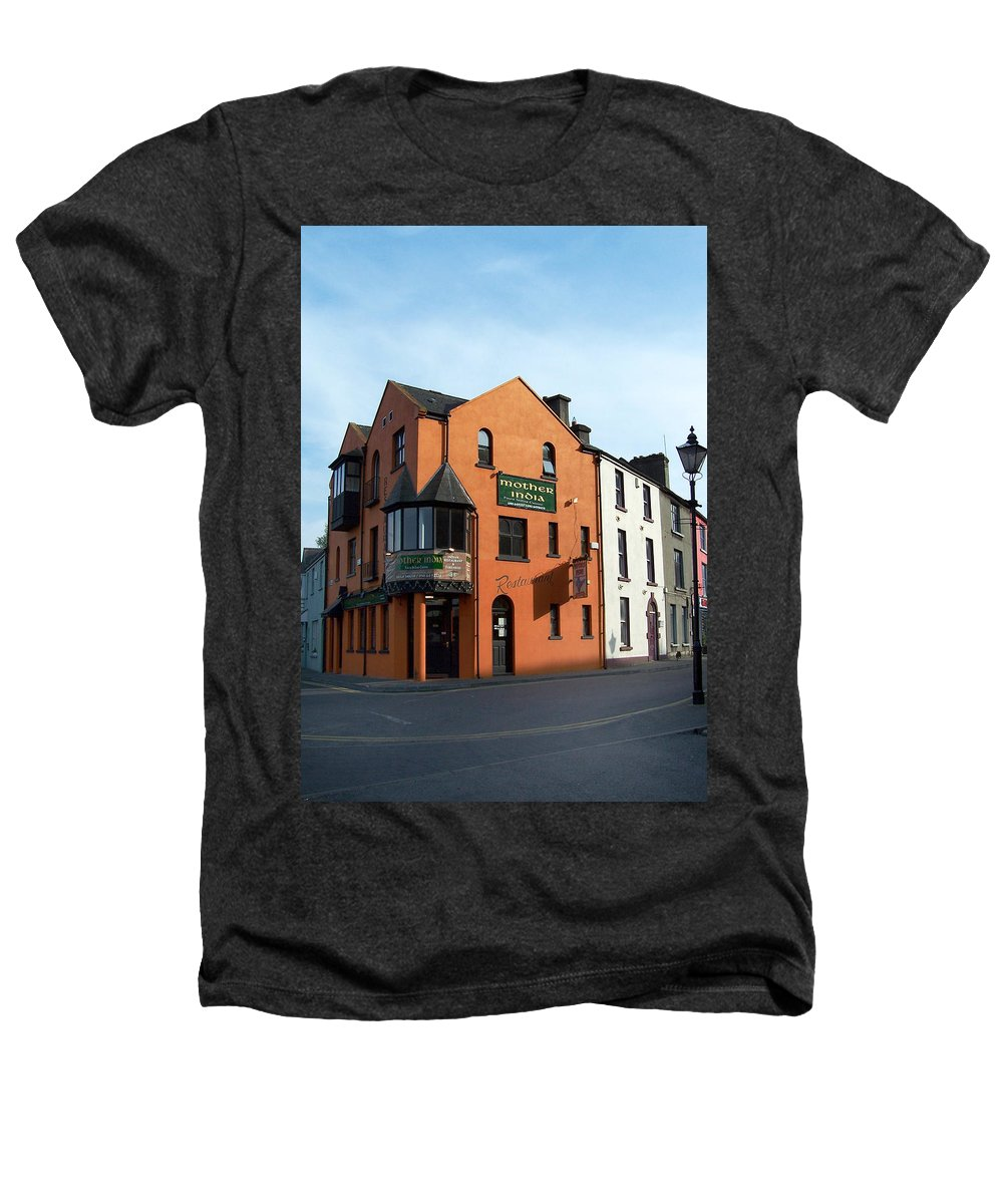 Ireland Heathers T-Shirt featuring the photograph Mother India Restaurant Athlone Ireland by Teresa Mucha