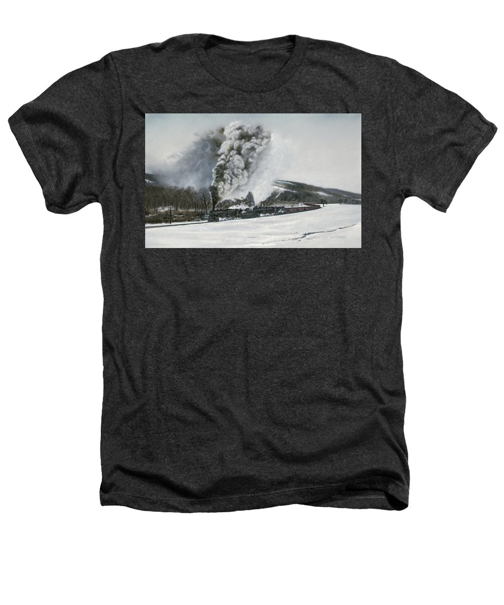 Trains Heathers T-Shirt featuring the painting Mount Carmel Eruption by David Mittner