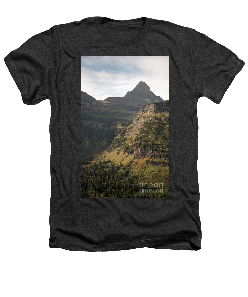 Glacier Heathers T-Shirt featuring the photograph Mountain Glacier by Richard Rizzo