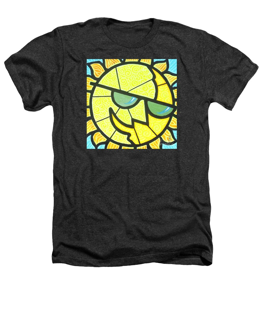 Sunshine Heathers T-Shirt featuring the painting Mr Sunny Day by Jim Harris