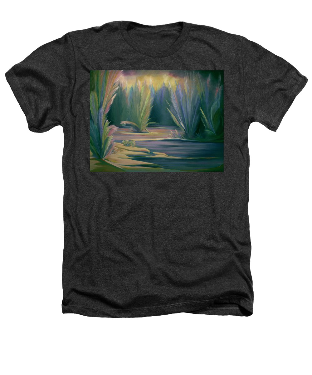 Feathers Heathers T-Shirt featuring the painting Mural Field Of Feathers by Nancy Griswold
