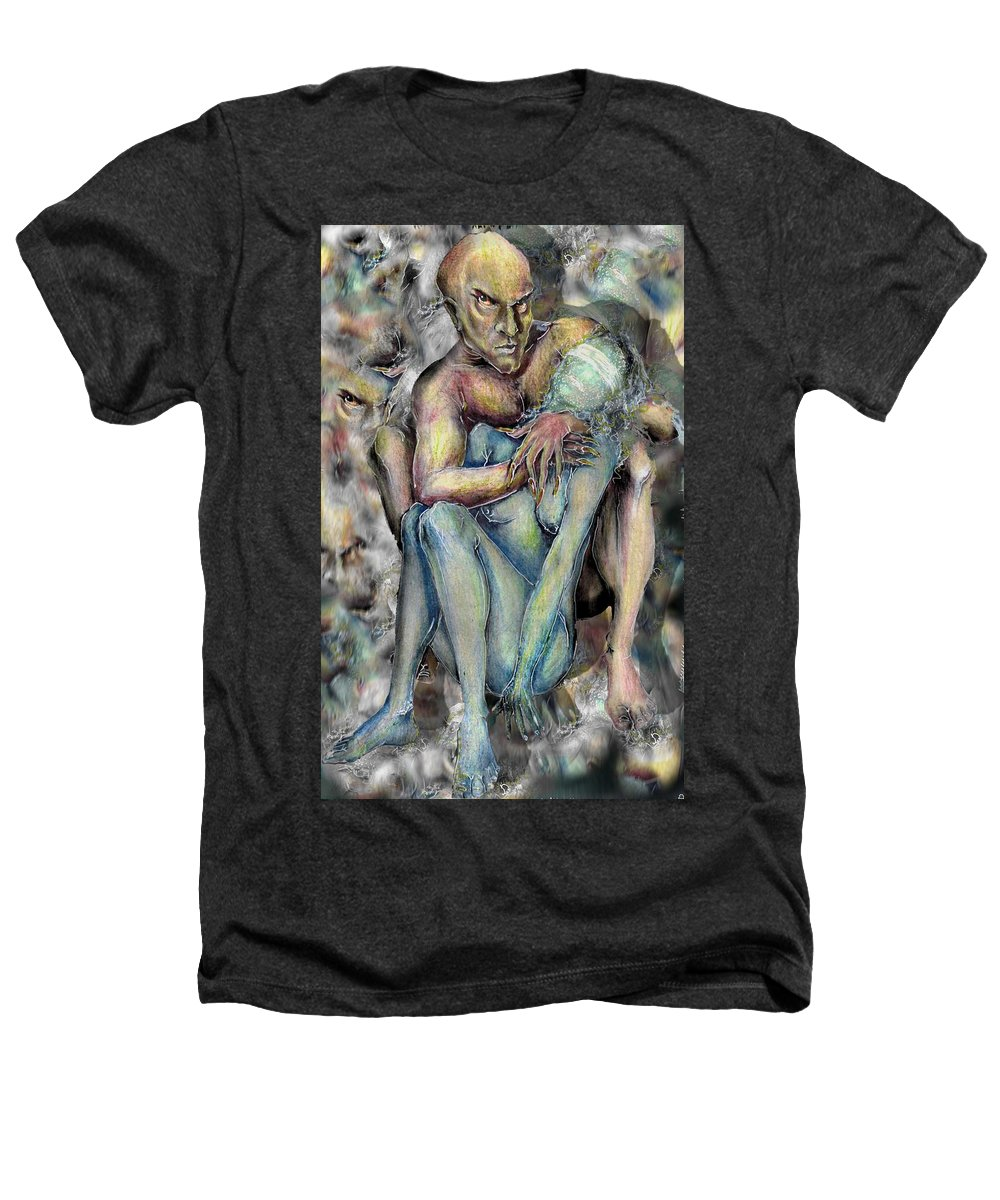 Demons Love Passion Control Posession Woman Lust Heathers T-Shirt featuring the mixed media My Precious by Veronica Jackson