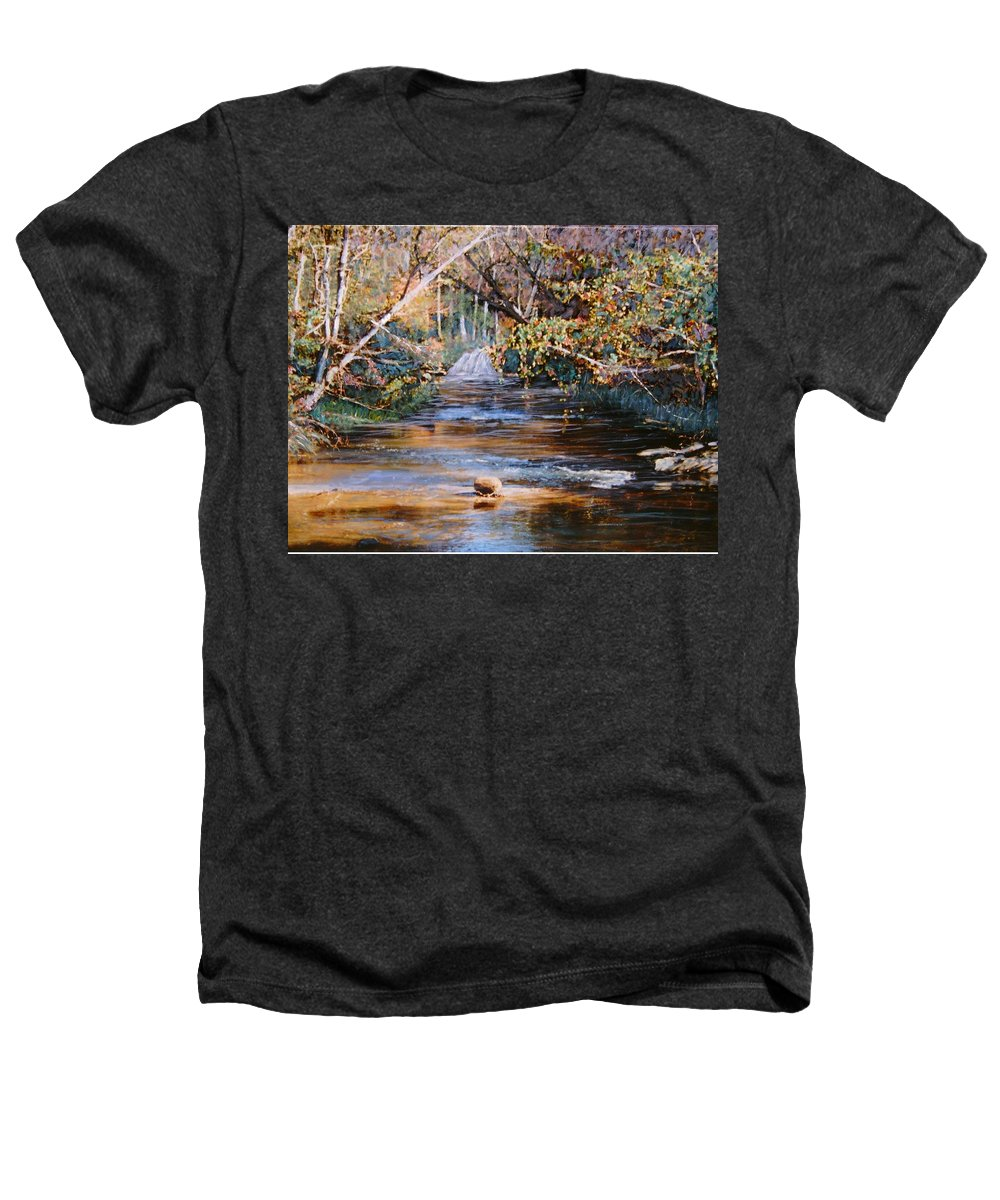Peace Project Heathers T-Shirt featuring the painting My Secret Place by Ben Kiger