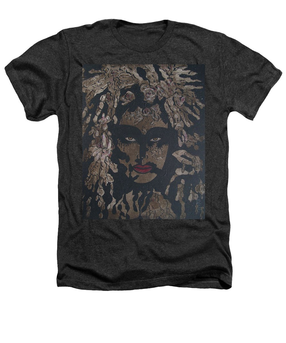 Figurative Heathers T-Shirt featuring the painting Mysterious Desire by Natalie Holland