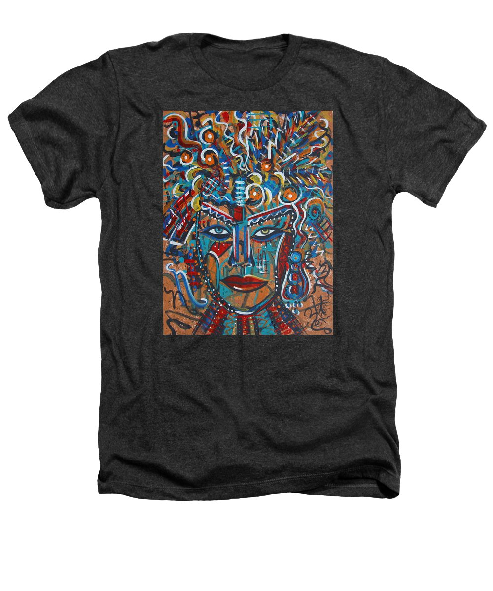 Abstract Heathers T-Shirt featuring the painting Nataliana by Natalie Holland