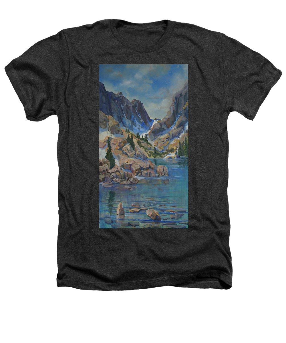 Hayden Spires Heathers T-Shirt featuring the painting Near Hayden Spires by Heather Coen
