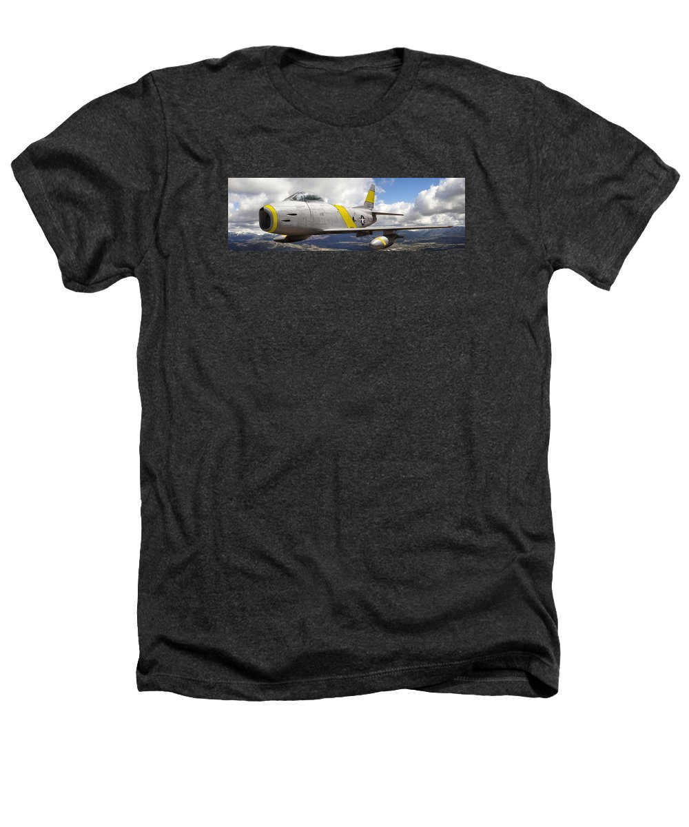 F-86 Sabre Heathers T-Shirt featuring the photograph North American F-86 Sabre by Larry McManus