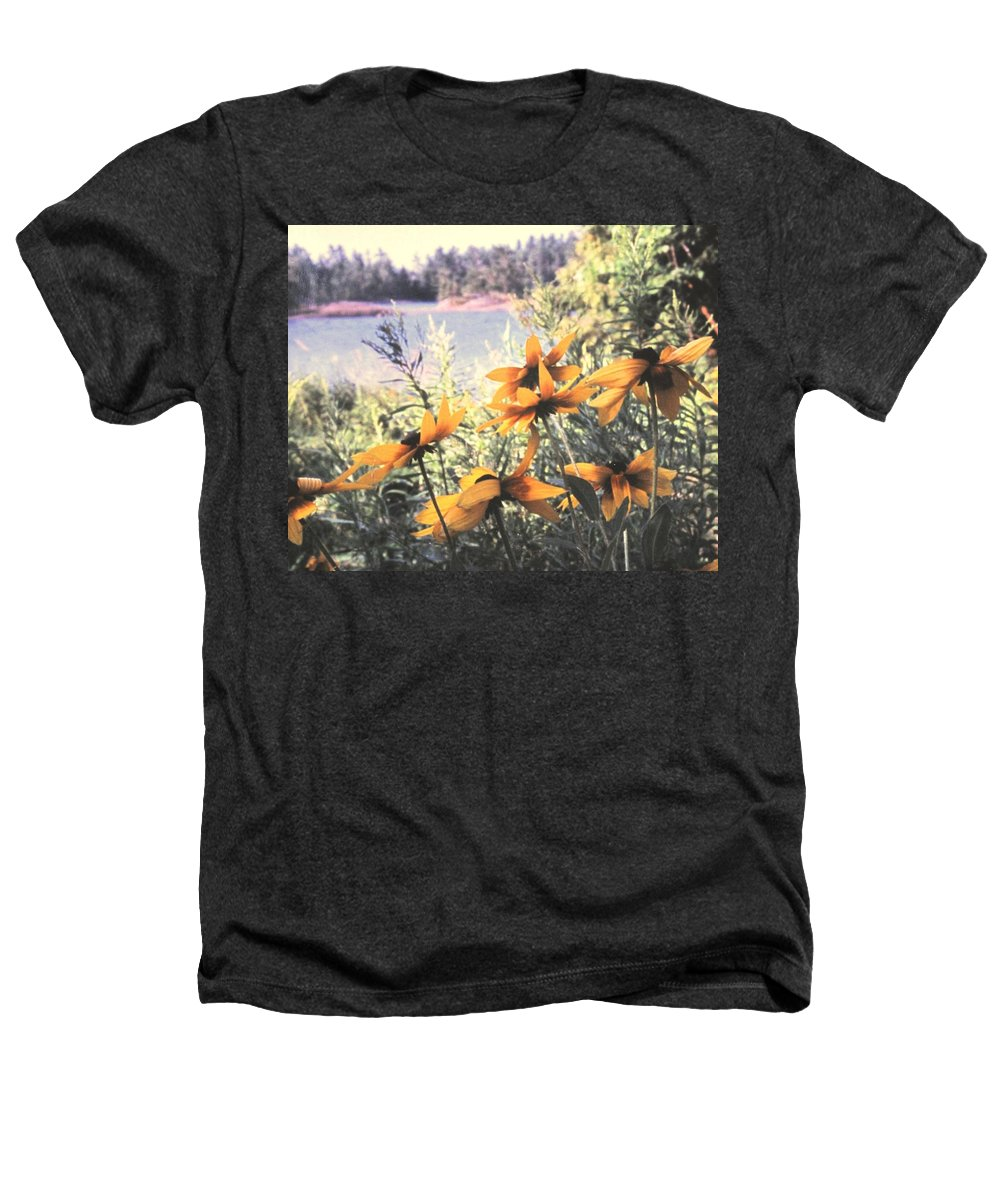North Channel Heathers T-Shirt featuring the photograph North Channel Beauties by Ian MacDonald