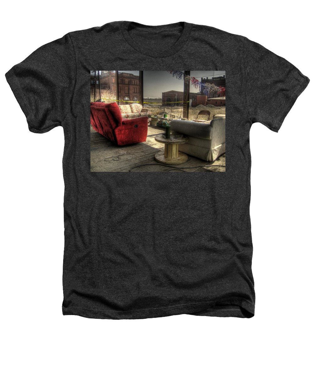 Hdr Heathers T-Shirt featuring the photograph North St. Louis Porch by Jane Linders