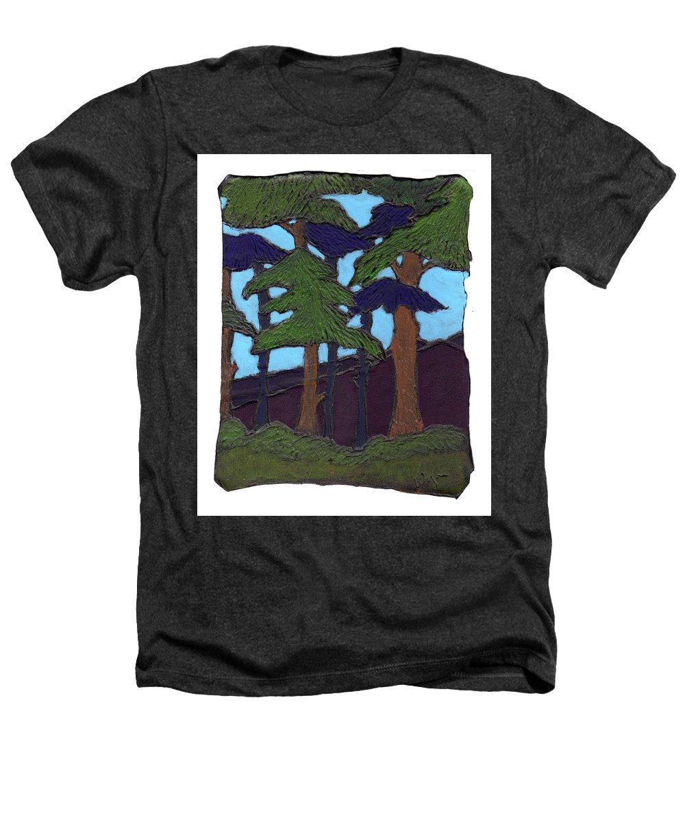 Tree Heathers T-Shirt featuring the painting Northern Woods by Wayne Potrafka