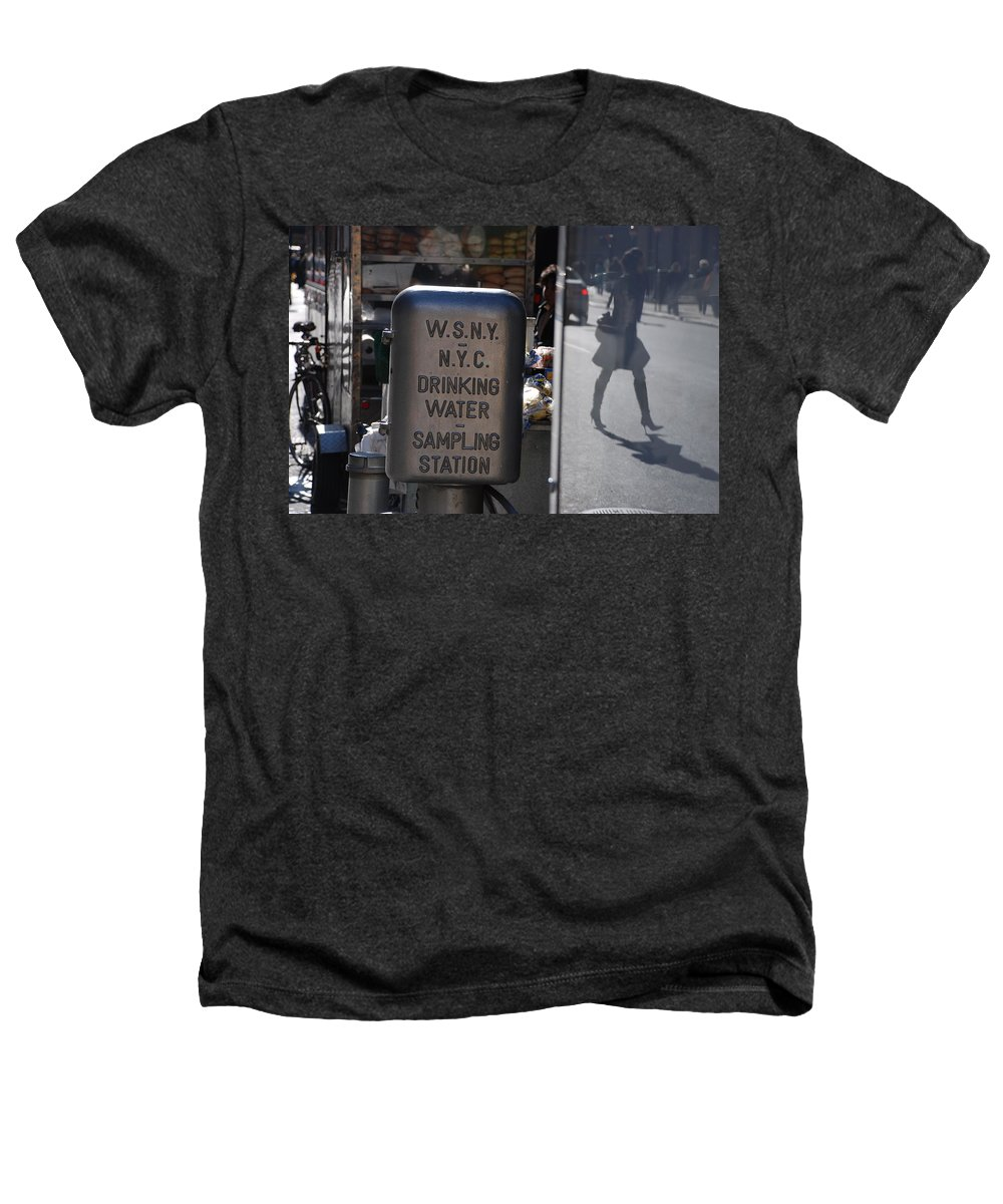 Street Scene Heathers T-Shirt featuring the photograph Nyc Drinking Water by Rob Hans