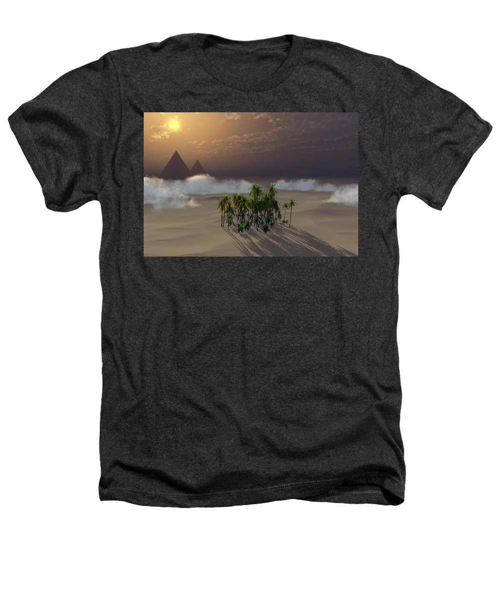 Deserts Heathers T-Shirt featuring the digital art Oasis by Richard Rizzo