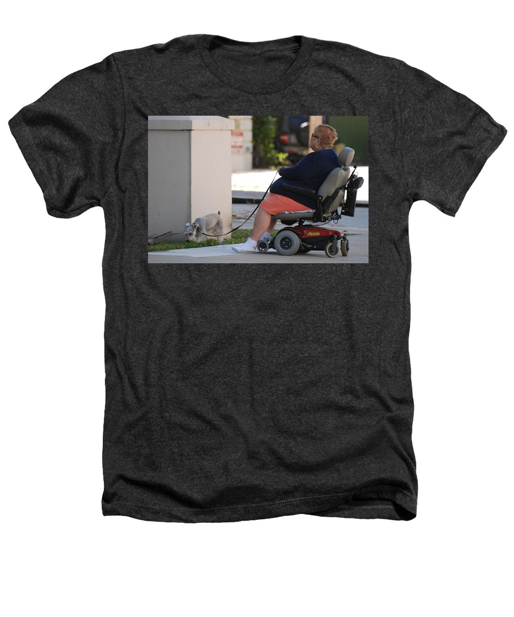 Women Heathers T-Shirt featuring the photograph Old Barefoot Women by Rob Hans