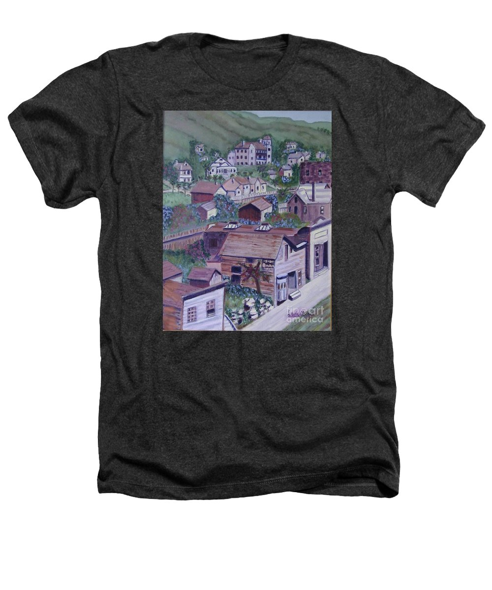 Ventura Heathers T-Shirt featuring the painting Old Ventura by Laurie Morgan