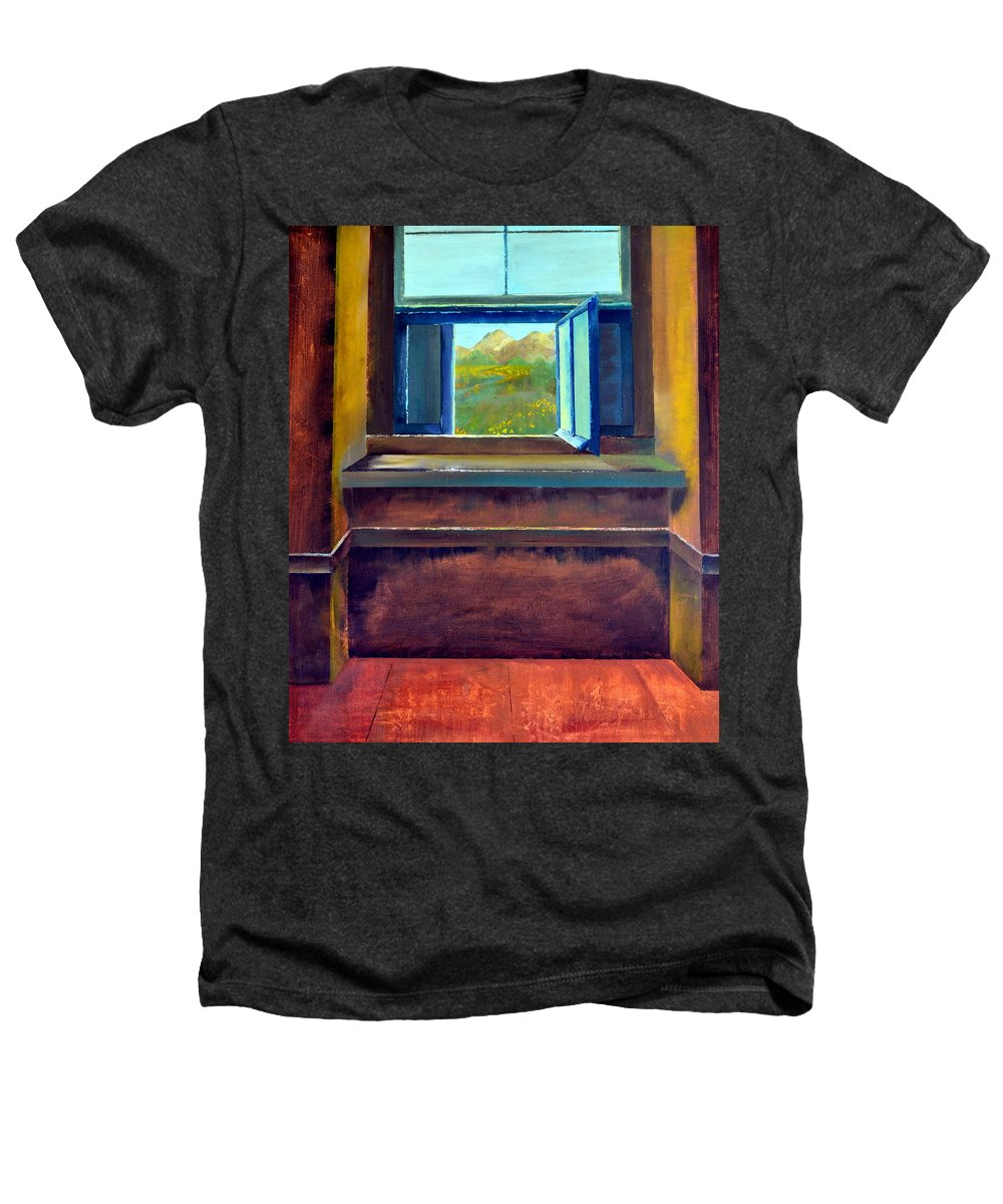 Trompe L'oeil Heathers T-Shirt featuring the painting Open Window by Michelle Calkins