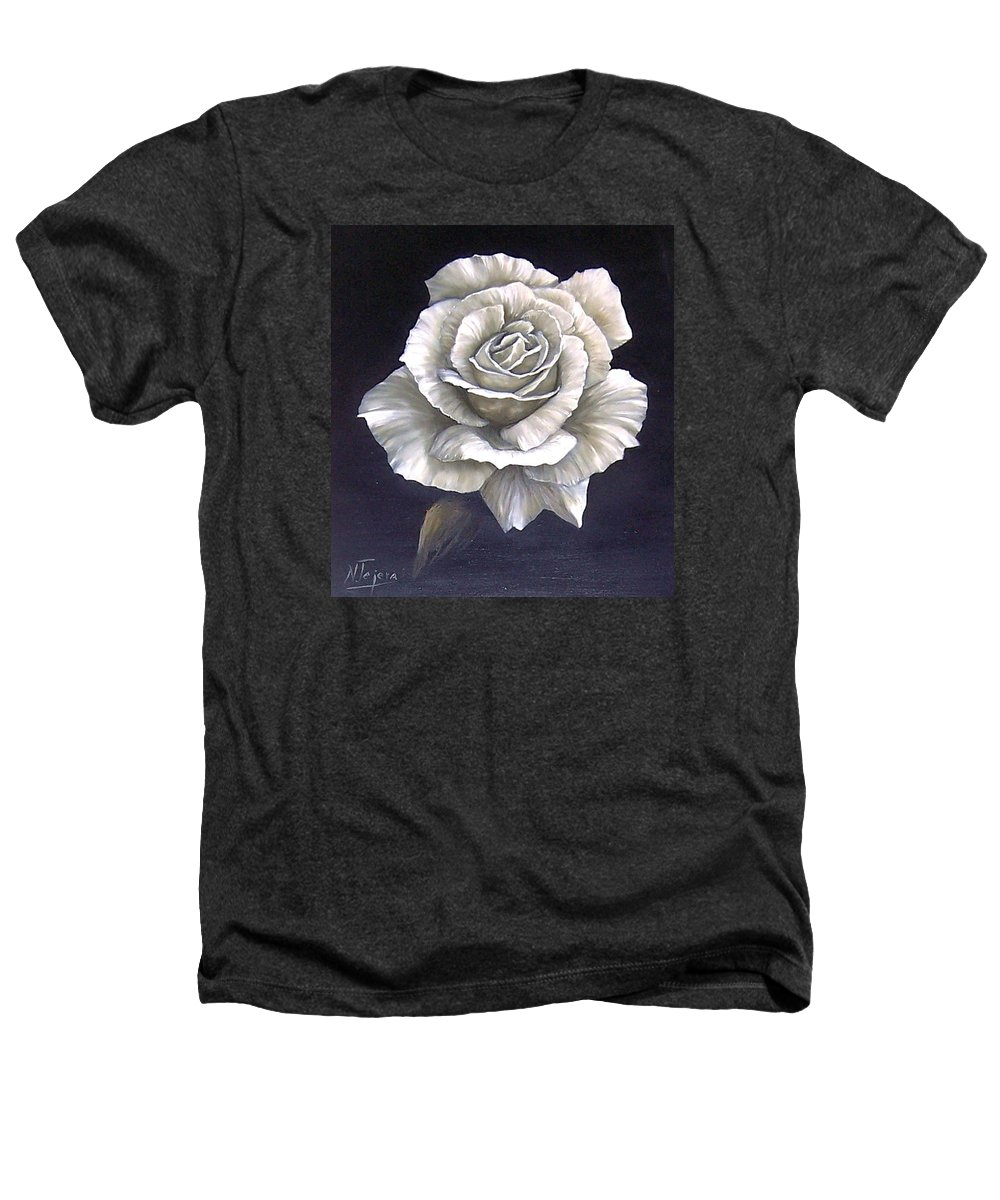 Rose Flower Heathers T-Shirt featuring the painting Opened Rose by Natalia Tejera
