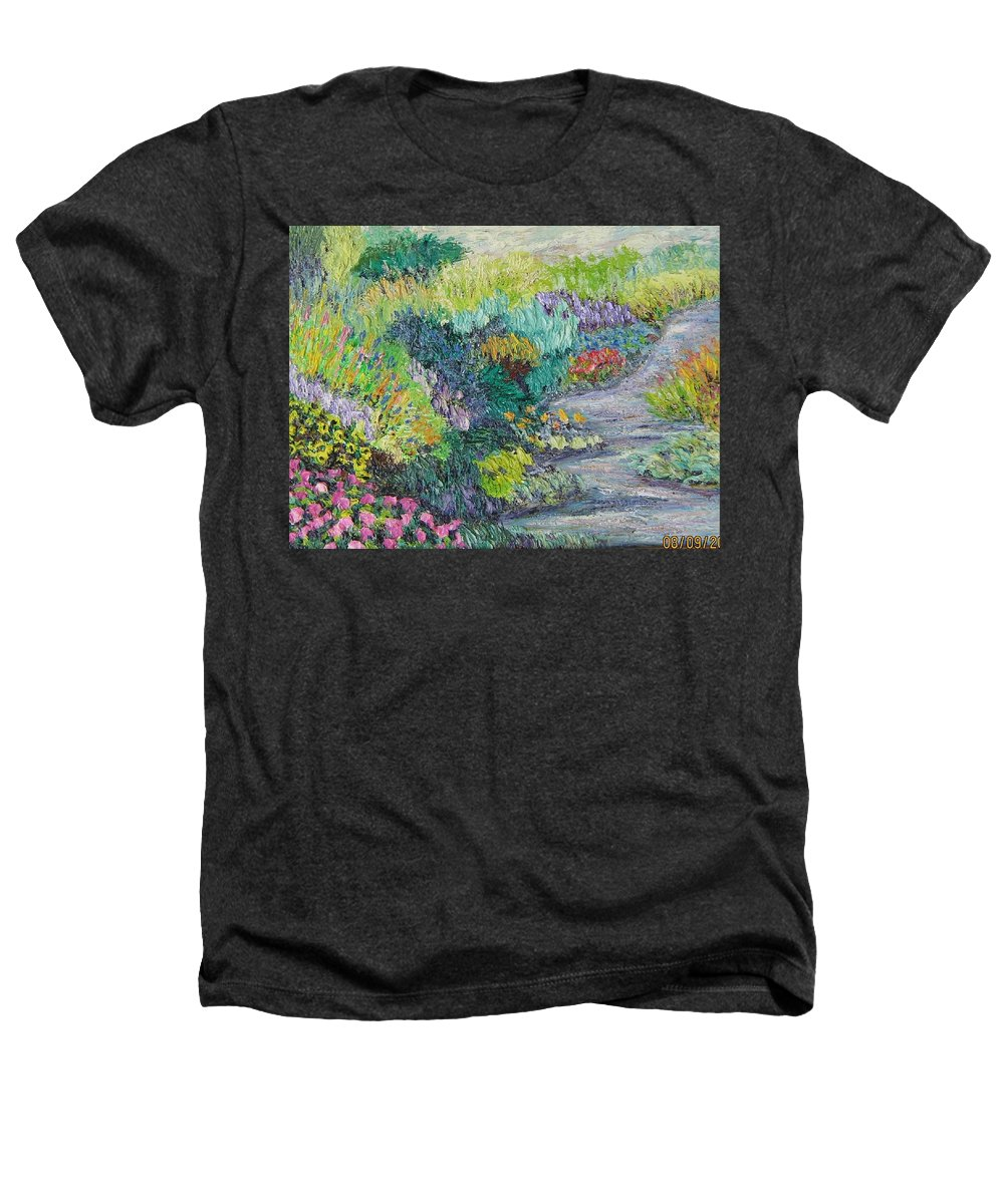 Flowers Heathers T-Shirt featuring the painting Pathway Of Flowers by Richard Nowak