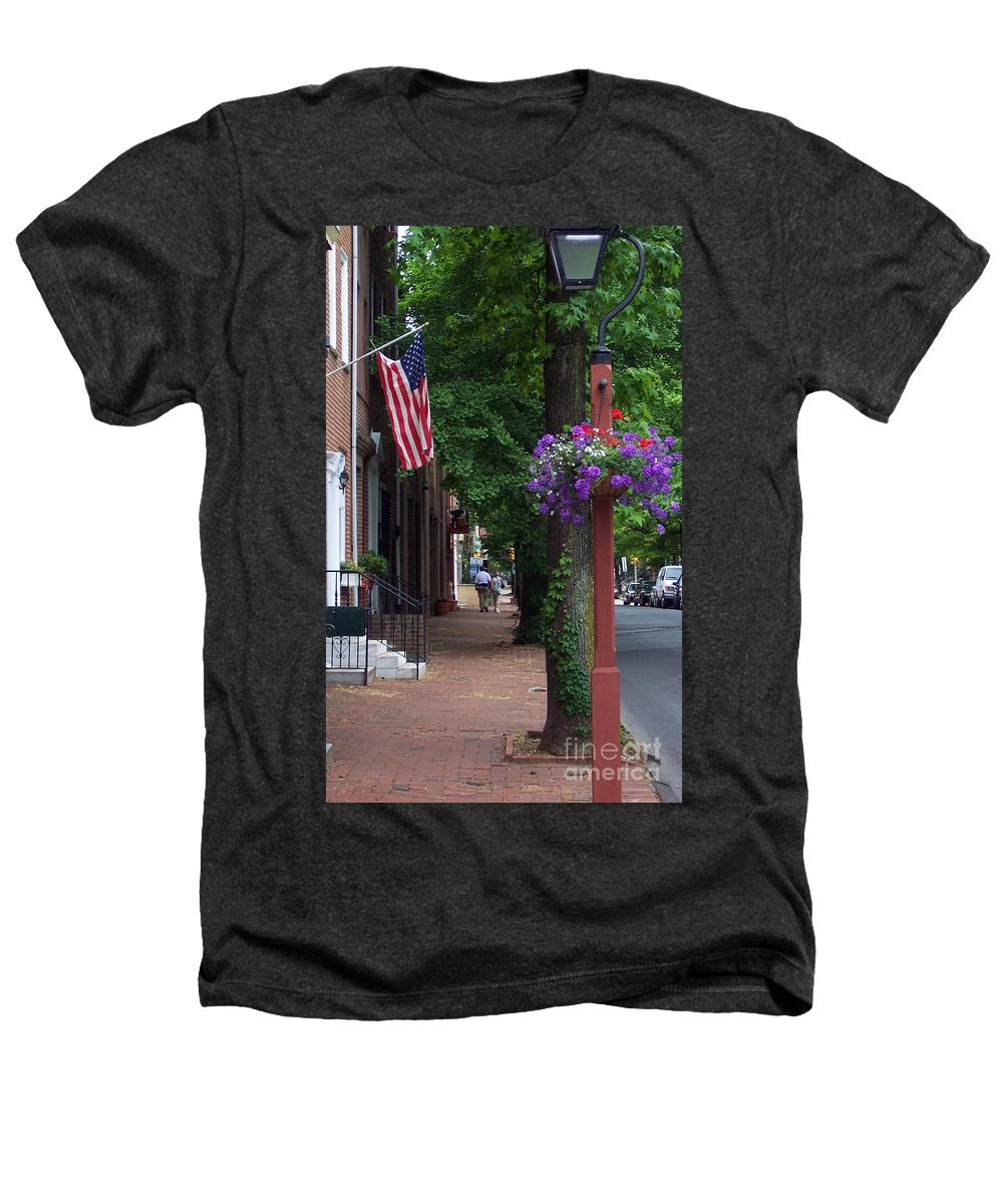 Cityscape Heathers T-Shirt featuring the photograph Patriotic Street In Philadelphia by Debbi Granruth