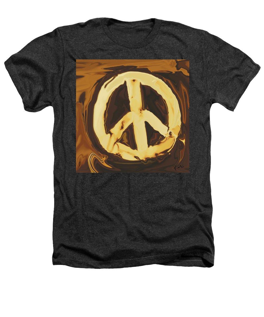 Freedom Heathers T-Shirt featuring the digital art Peace 2 by Rabi Khan
