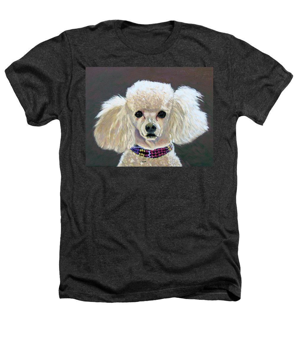 Dog Heathers T-Shirt featuring the painting Pebbles by Stan Hamilton