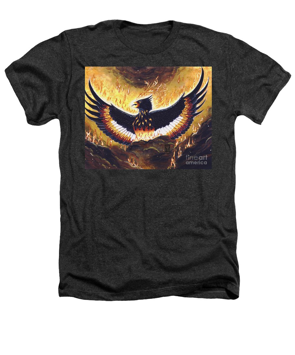 Phoenix Heathers T-Shirt featuring the painting Phoenix Rising by Melissa A Benson