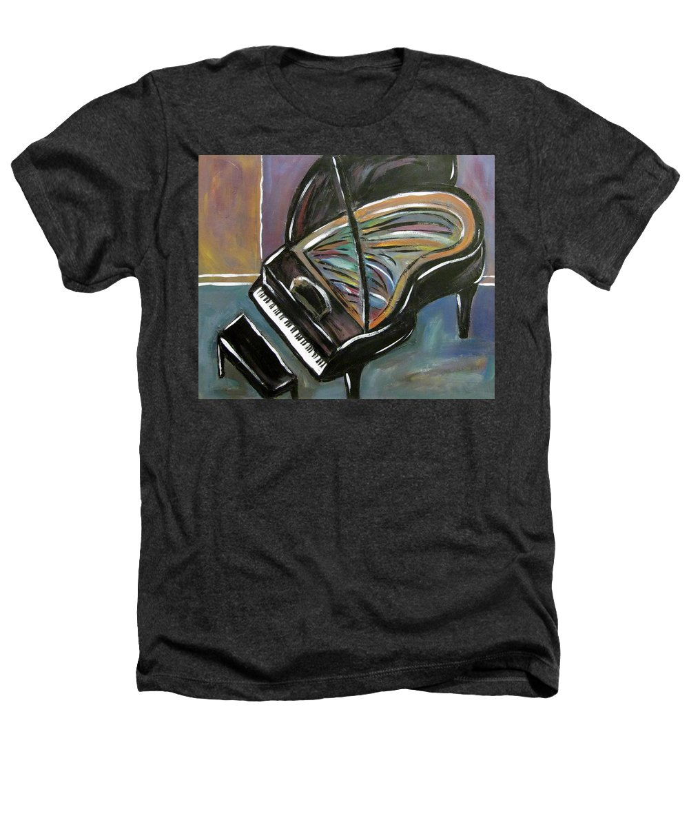 Impressionist Heathers T-Shirt featuring the painting Piano With High Heel by Anita Burgermeister