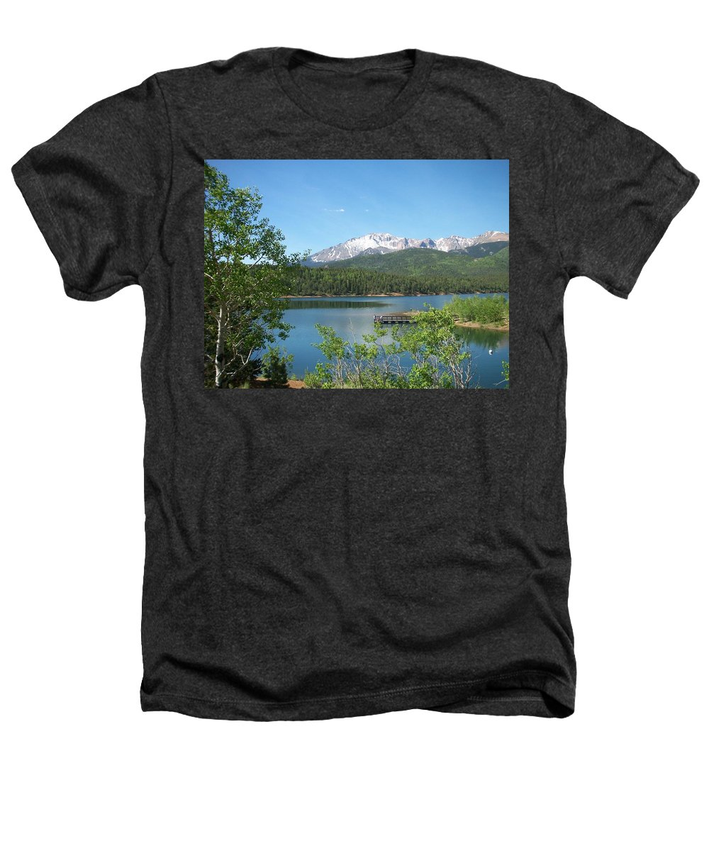 Colorado Heathers T-Shirt featuring the photograph Pike's Peak by Anita Burgermeister