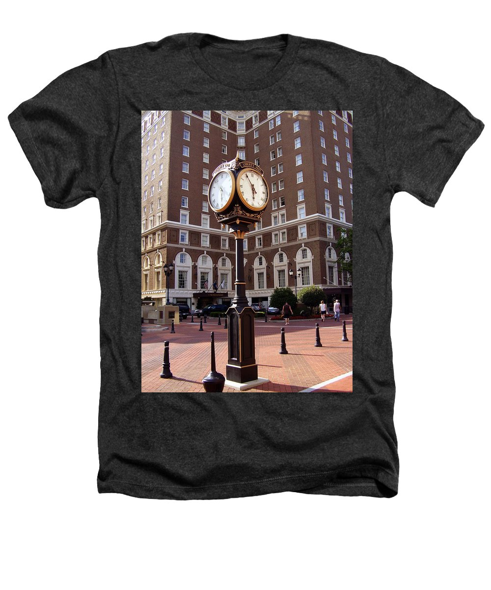 Poinsett Hotel Heathers T-Shirt featuring the photograph Poinsett Hotel Greeenville Sc by Flavia Westerwelle