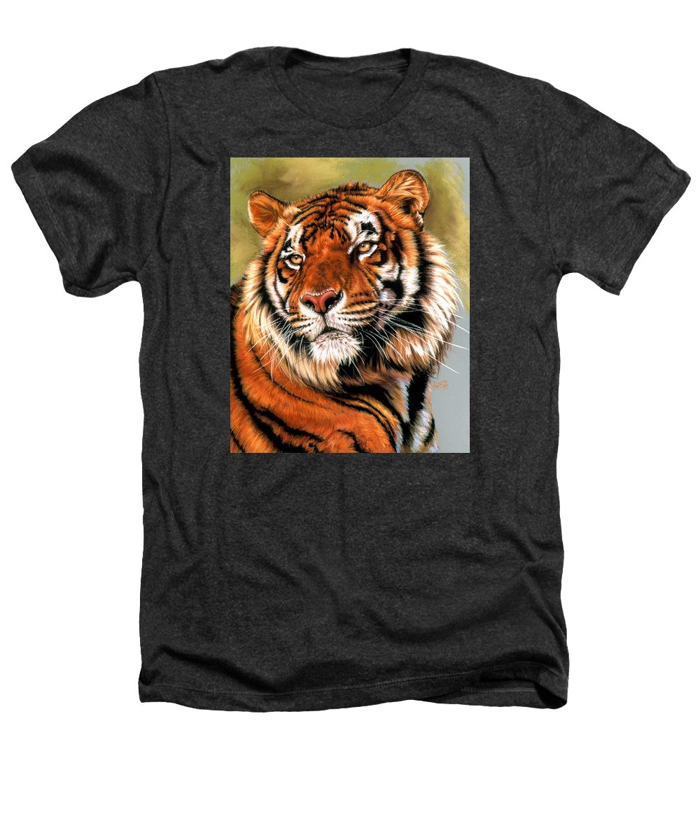 Tiger Heathers T-Shirt featuring the pastel Power And Grace by Barbara Keith