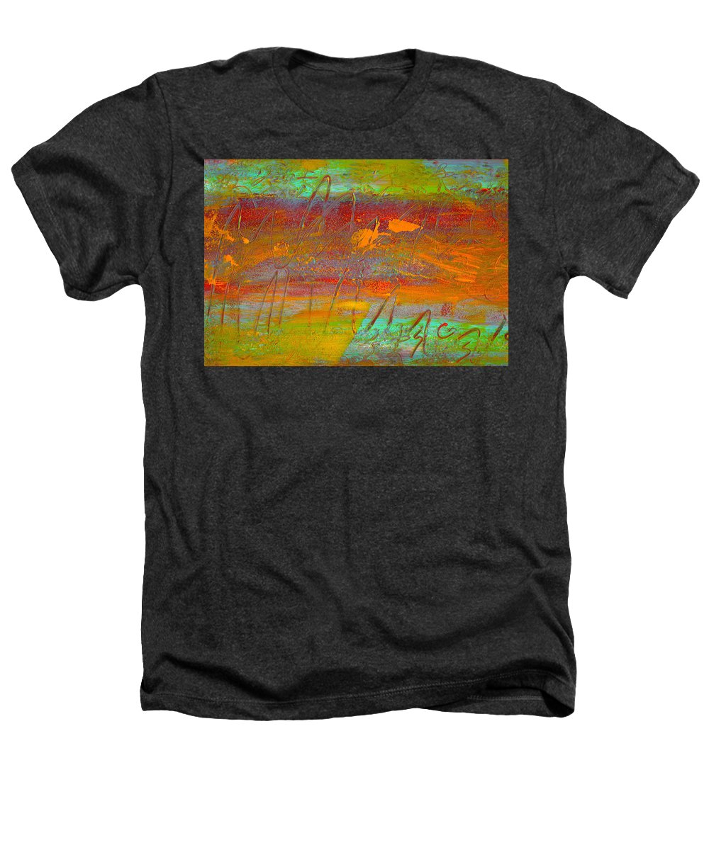 Abstract Heathers T-Shirt featuring the painting Prelude To A Sigh by Wayne Potrafka