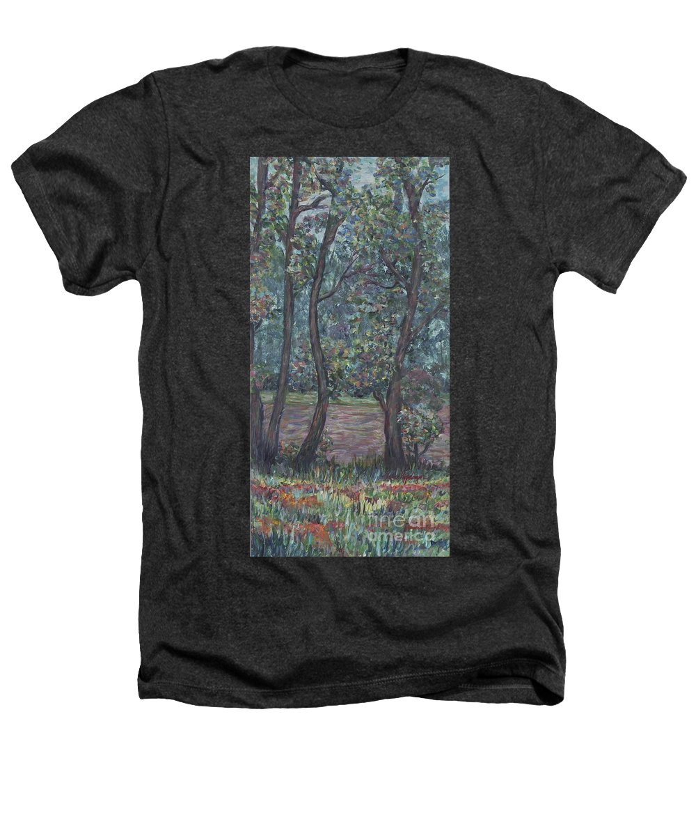 Landscape Heathers T-Shirt featuring the painting Provence Flowers by Nadine Rippelmeyer