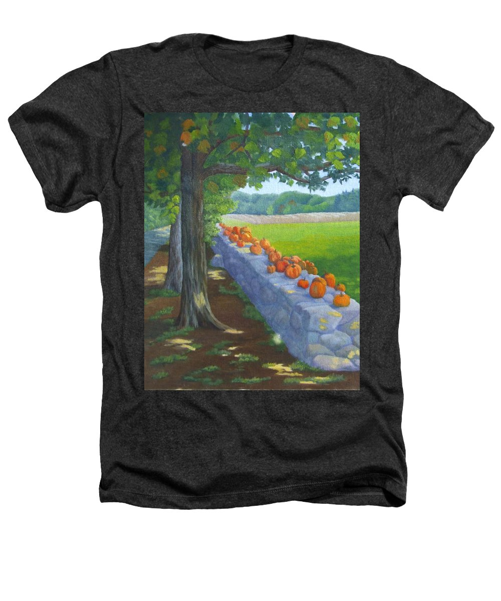 Pumpkins Heathers T-Shirt featuring the painting Pumpkin Muster by Sharon E Allen