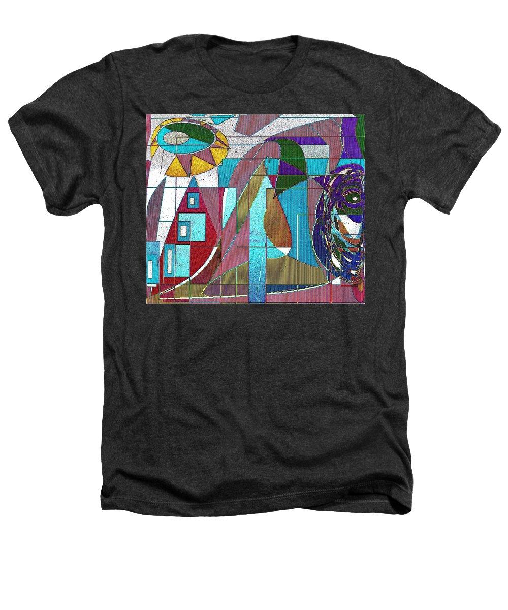 Purple Heathers T-Shirt featuring the digital art Purple And Blue by Ian MacDonald
