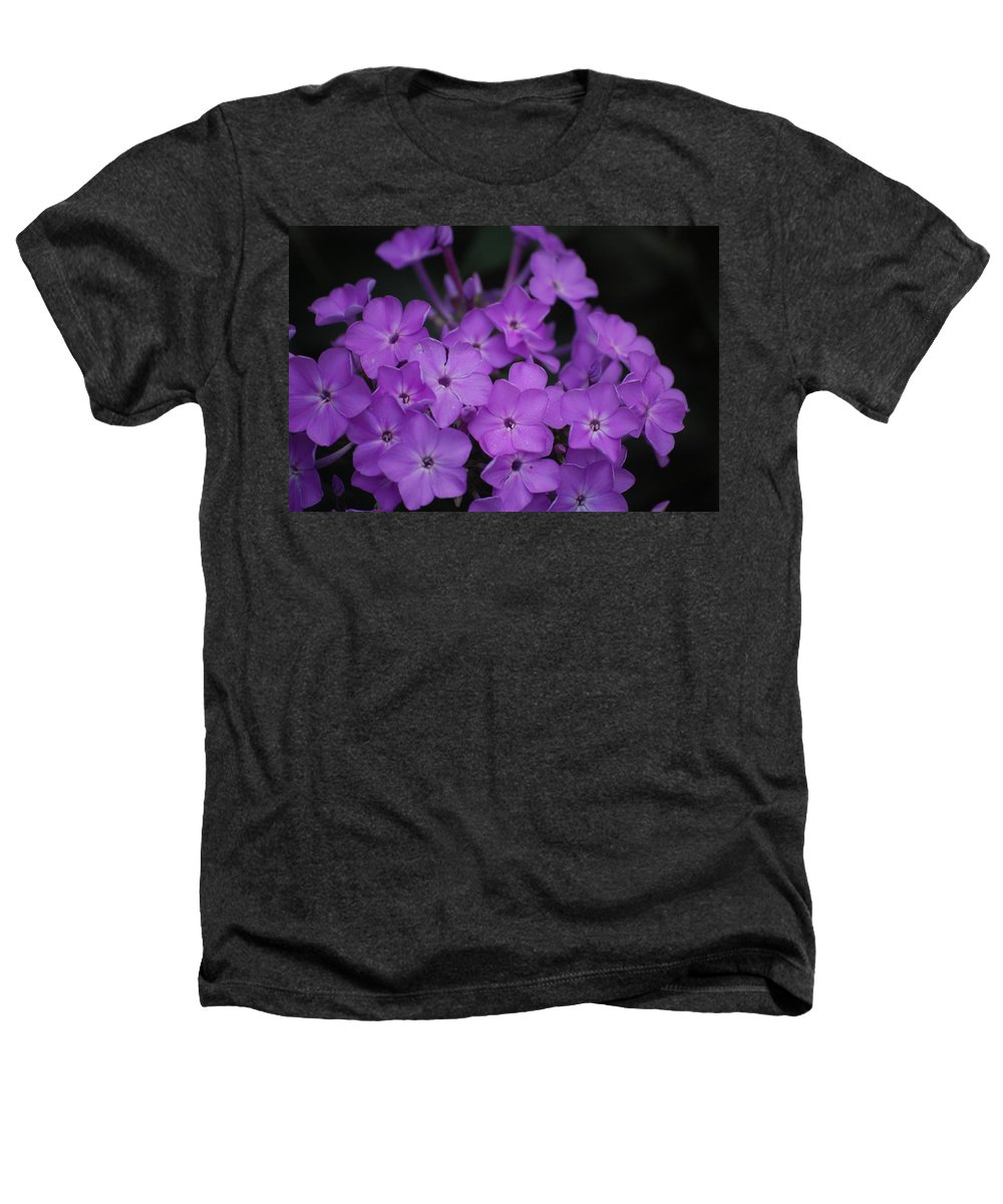 Digital Photo Heathers T-Shirt featuring the photograph Purple Blossoms by David Lane