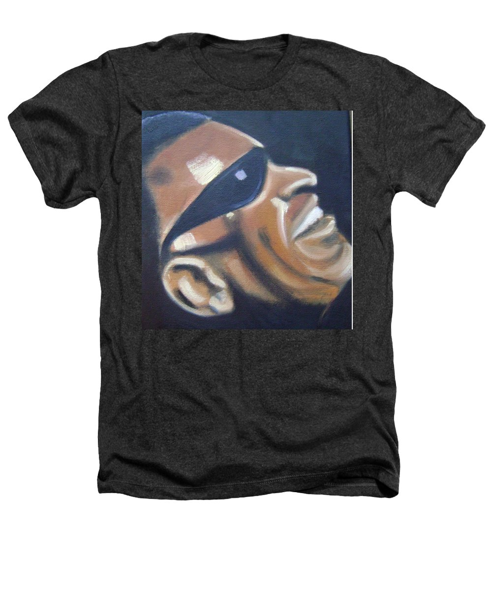 Ray Charles Heathers T-Shirt featuring the painting Ray Charles by Toni Berry
