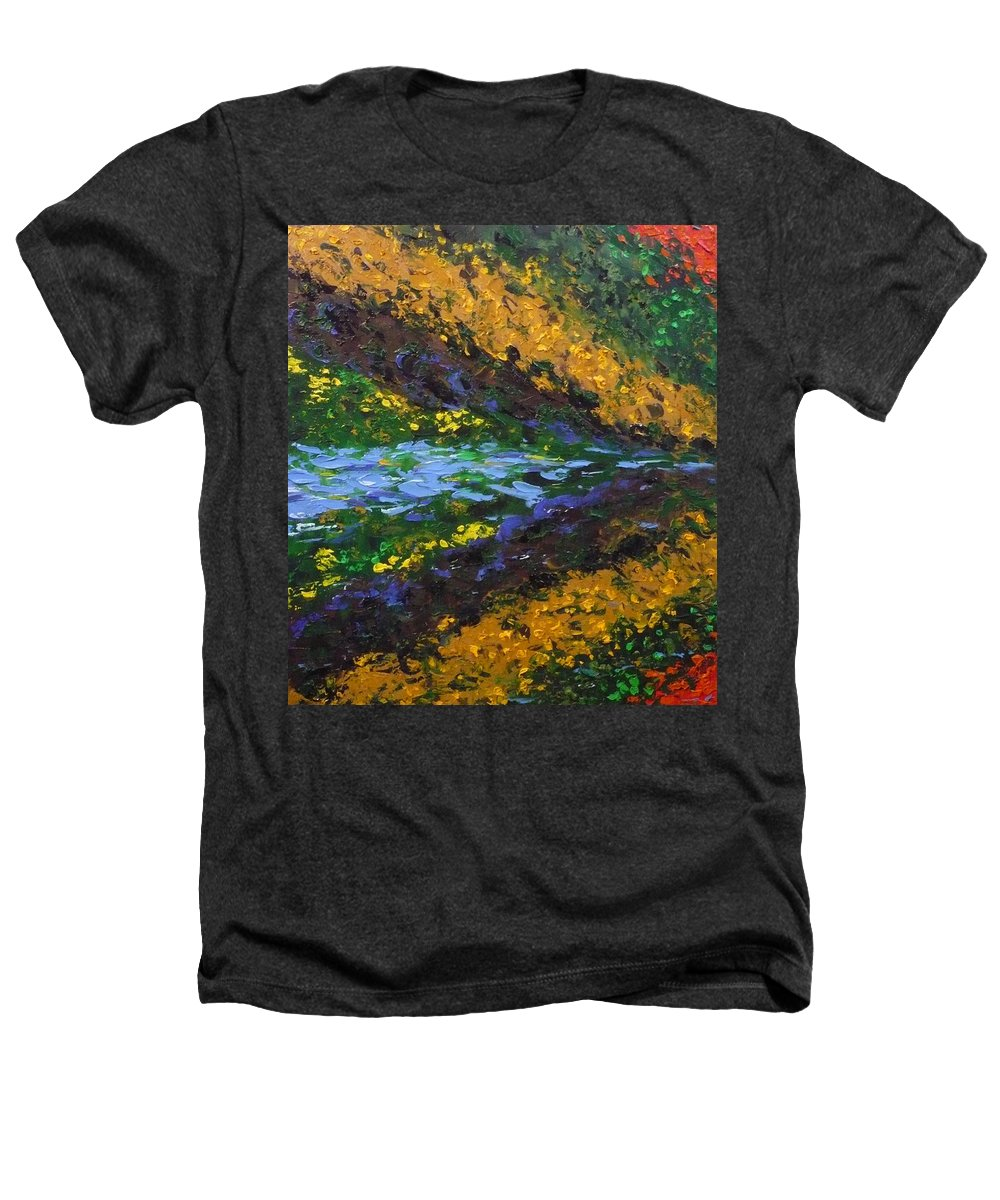 Landscape Heathers T-Shirt featuring the painting Reflection One by Ericka Herazo