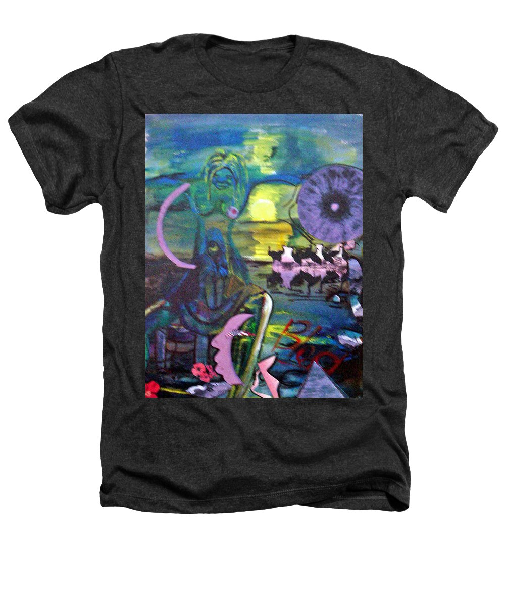 Water Heathers T-Shirt featuring the painting Remembering 9-11 by Peggy Blood