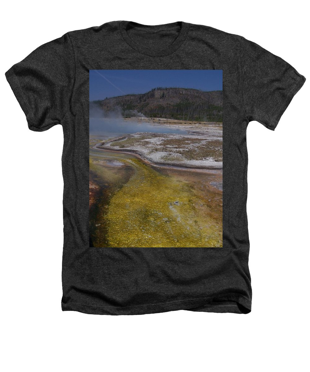 Geyser Heathers T-Shirt featuring the photograph River Of Gold by Gale Cochran-Smith