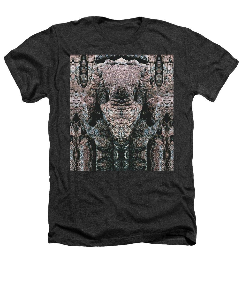 Rocks Heathers T-Shirt featuring the digital art Rock Gods Elephant Stonemen Of Ogunquit by Nancy Griswold